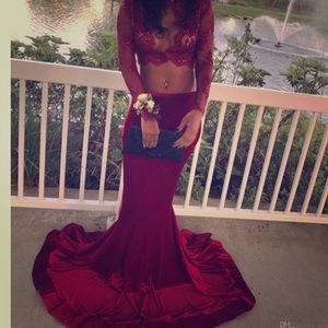 A velvet material prom dress